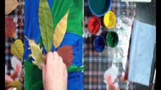 Уроки для детей - рисуем букет осенних листьев