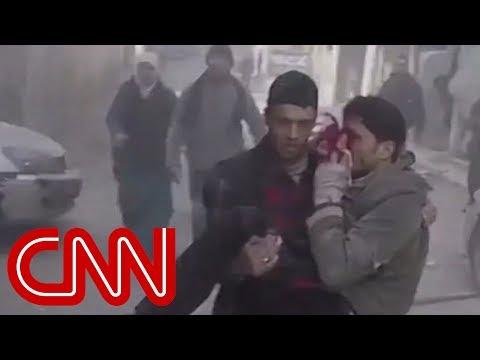 250 deaths in two days in Syria's Eastern Ghouta - Dauer: 3 Minuten, 9 Sekunden
