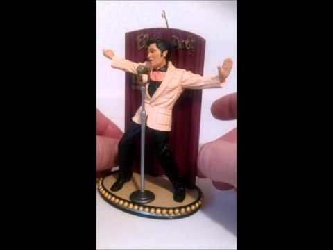 2002 Carlton Music ELVIS KING OF ROCK ROLL  Musica box Ornament ALL SHOOK UP