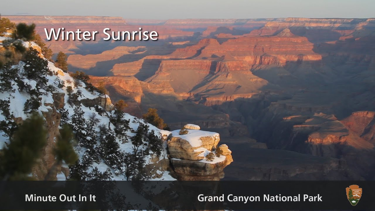 Winter Sunrise Minute Out In It Grand Canyon National Park