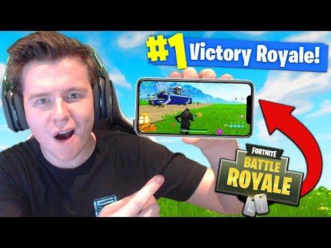 FORTNITE Battle Royale ON MOBILE!!