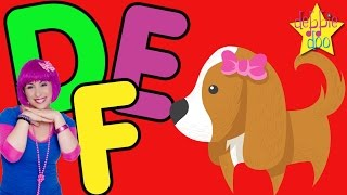 The ABC Song | Letters D E and F | With The Five Finger Family | Education & Learning | Debbie Doo