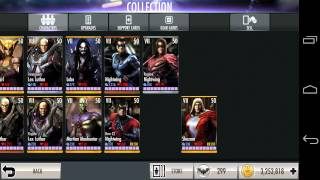 Injustice: gods Among Us (LvL 99 all cards & gears - 2014)