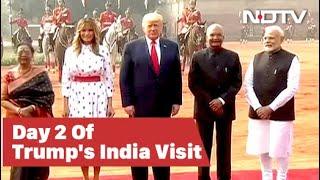 Ceremonial Welcome For Donald Trump At Rashtrapati Bhavan