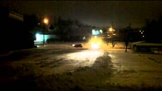 Chevy Dump Snow Plowing