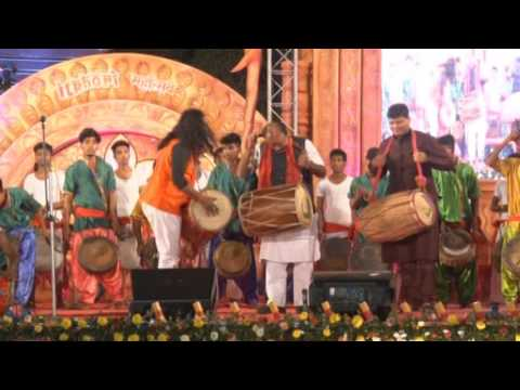Itkhori Mahotsav_Dhol Beat by Nandlal Nayak (Team) & Address by MP Chatra