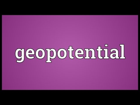 Header of geopotential