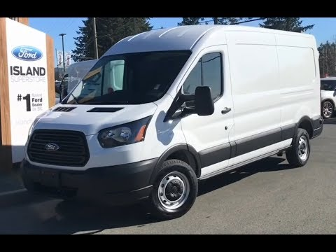 2019 Ford Transit MR Cargo Van W/ Heated Seats Review| Island Ford