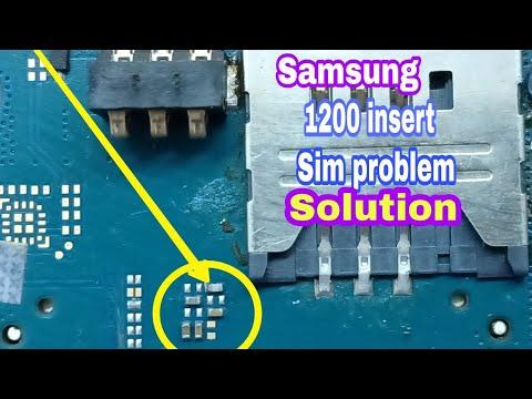 samsung e1200y insert sim solution