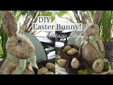 DIY Easter Bunny   Vintage Style