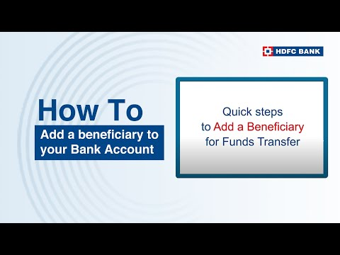 how-to-add-a-beneficiary-to-your-bank-account?-hdfc-bank,-india's-no.-1-bank*