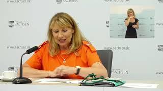 In der kabinettspressekonferenz informierten gesundheitsministerin petra köpping, beauftragte sächsischen staatsregierung für das jüdische leben und ...
