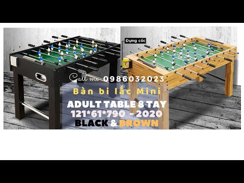 Bàn Bi Lắc Mini Adult Table 8 tay Black size 121*61*790cm #Stayhome #play #foosball #withme Covid-19