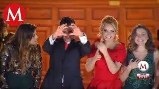 Peña Nieto hace un corazón con sus manos