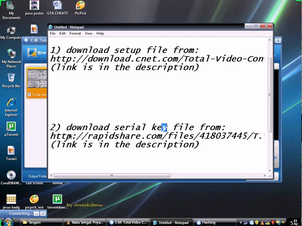 e.m.total video player free  for windows 7