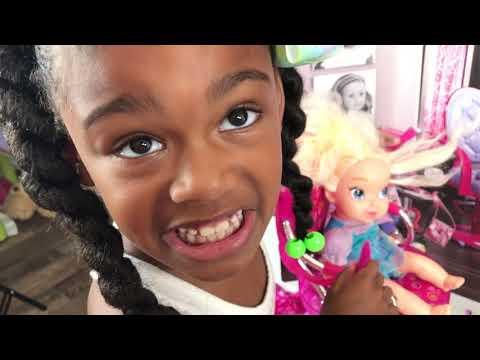 Baby Doll Hair Cut Shop + American Girl doll hair salon play toys doli playing