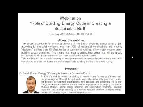 Role of Building Energy Code in Creating a Sustain