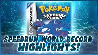 Pokemon Sapphire World Record Highlights! (Pokemon Sapphire Any% Glitchless WR)