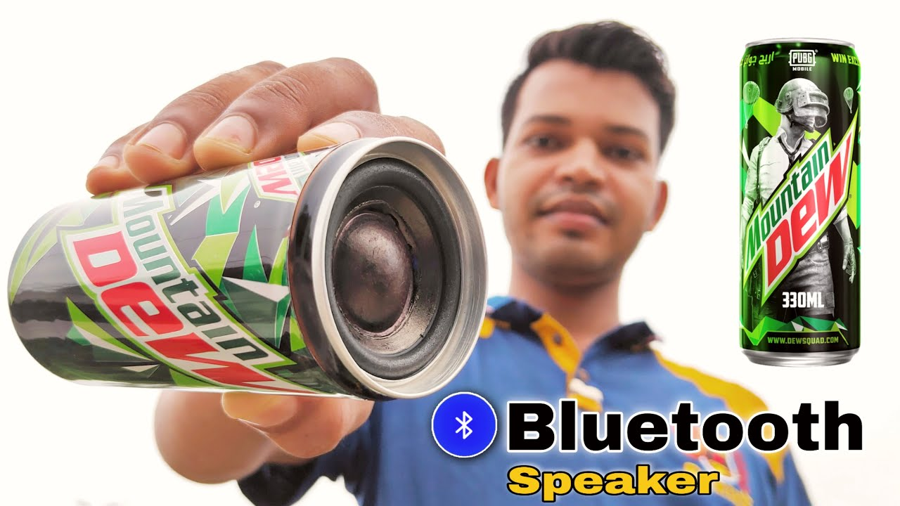 How To Make Bluetooth Speaker At from Mountain Dew Can