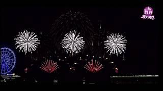 2020年義大世界999秒跨年大型藝術煙火 模擬動畫