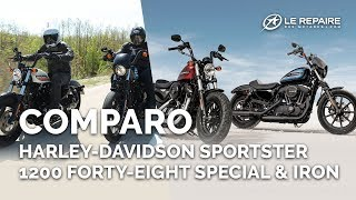 Comparo Harley Davidson Sportster 1200 Forty Eight Special & Iron
