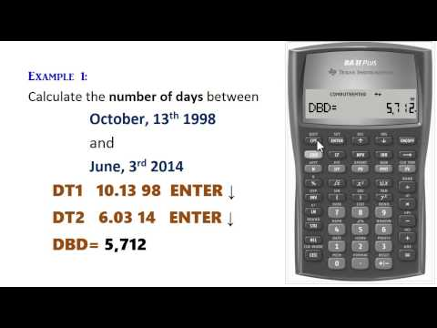 BA II Plus - Calculating Dates & Days (Month-Day-Year)