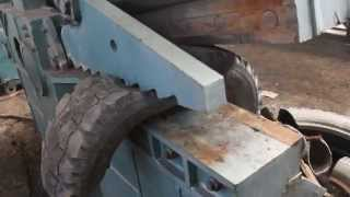 Резка шин – Станок для резки шин – Ножницы для резки автомобильных шин.(, 2015-03-31T06:34:29.000Z)