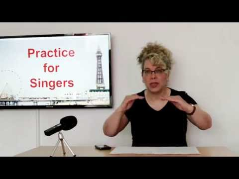 Practice for singers