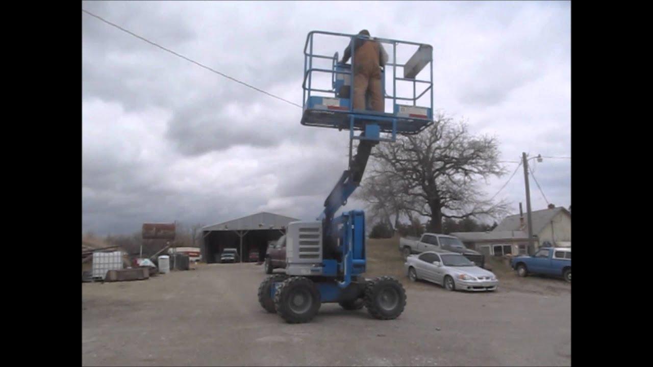 1996 Genie 4522 Rough Terrain Boom Lift For Sale