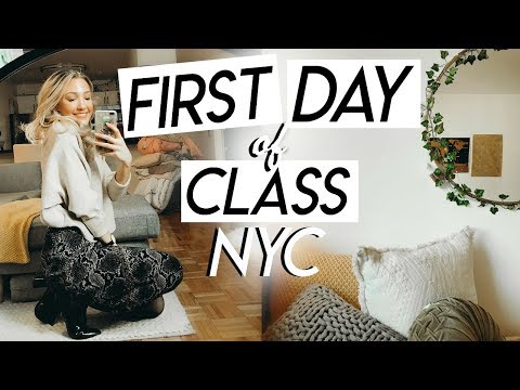 college day in my life NYC: first day of class! productive college vlog