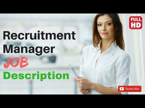 Recruitment Manager Job Description