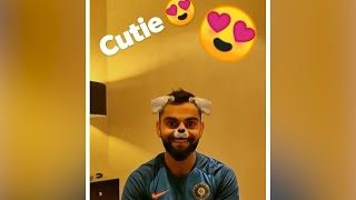 Anushka shares a funny video of Virat with a doggy filter on his face
