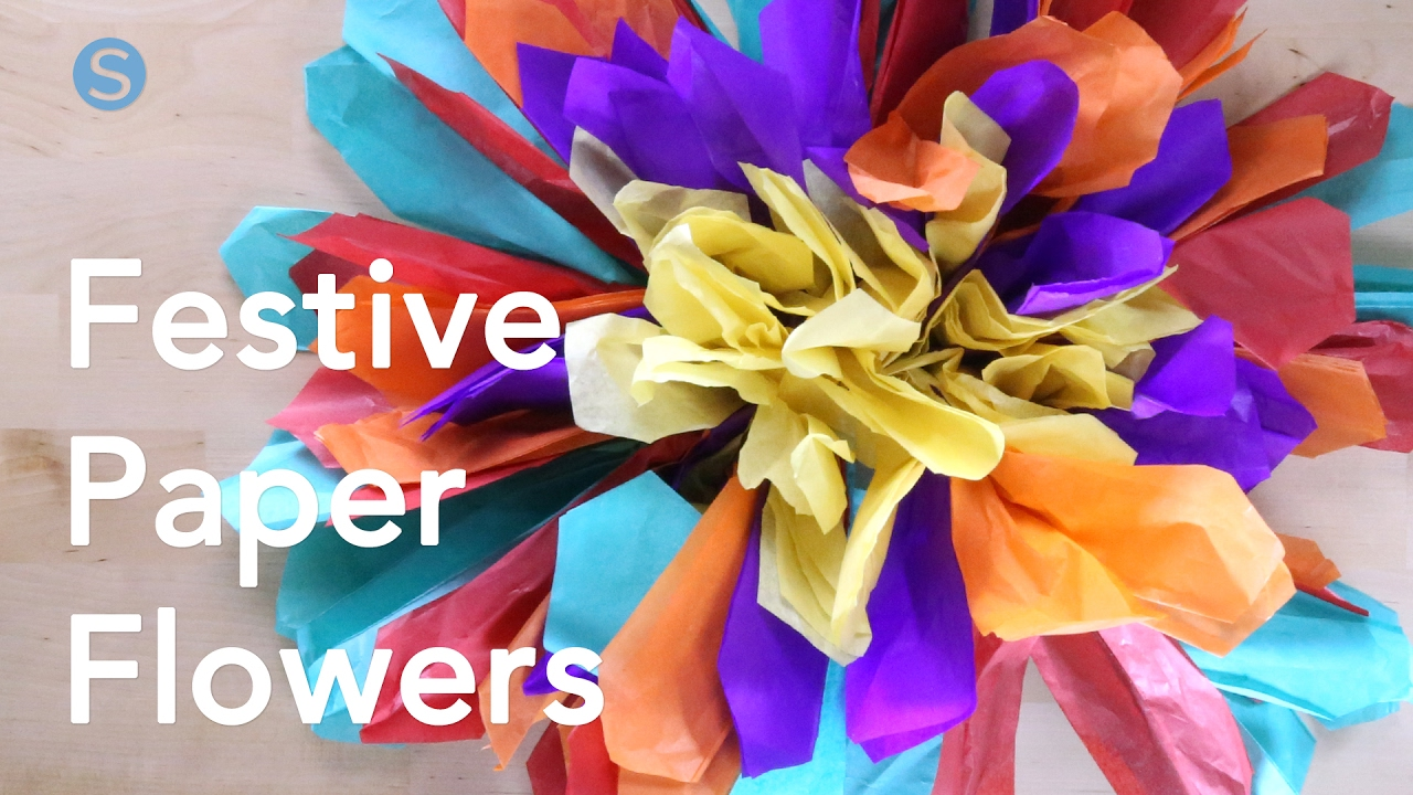 How To Make Your Own Festive Paper Flowers Simplemost Youtube