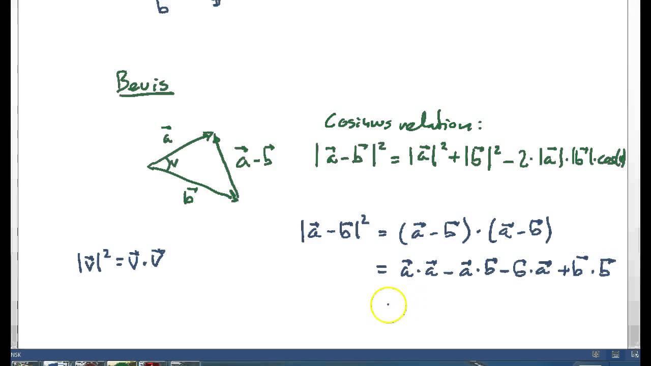 Vinkel mellem vektorer i 3D