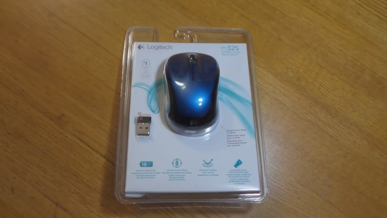 Logitech M325 Wireless Mouse Unboxing