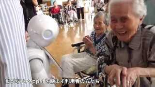 動かないPepperを励ますお年寄りの方たち @春陽会中央病院