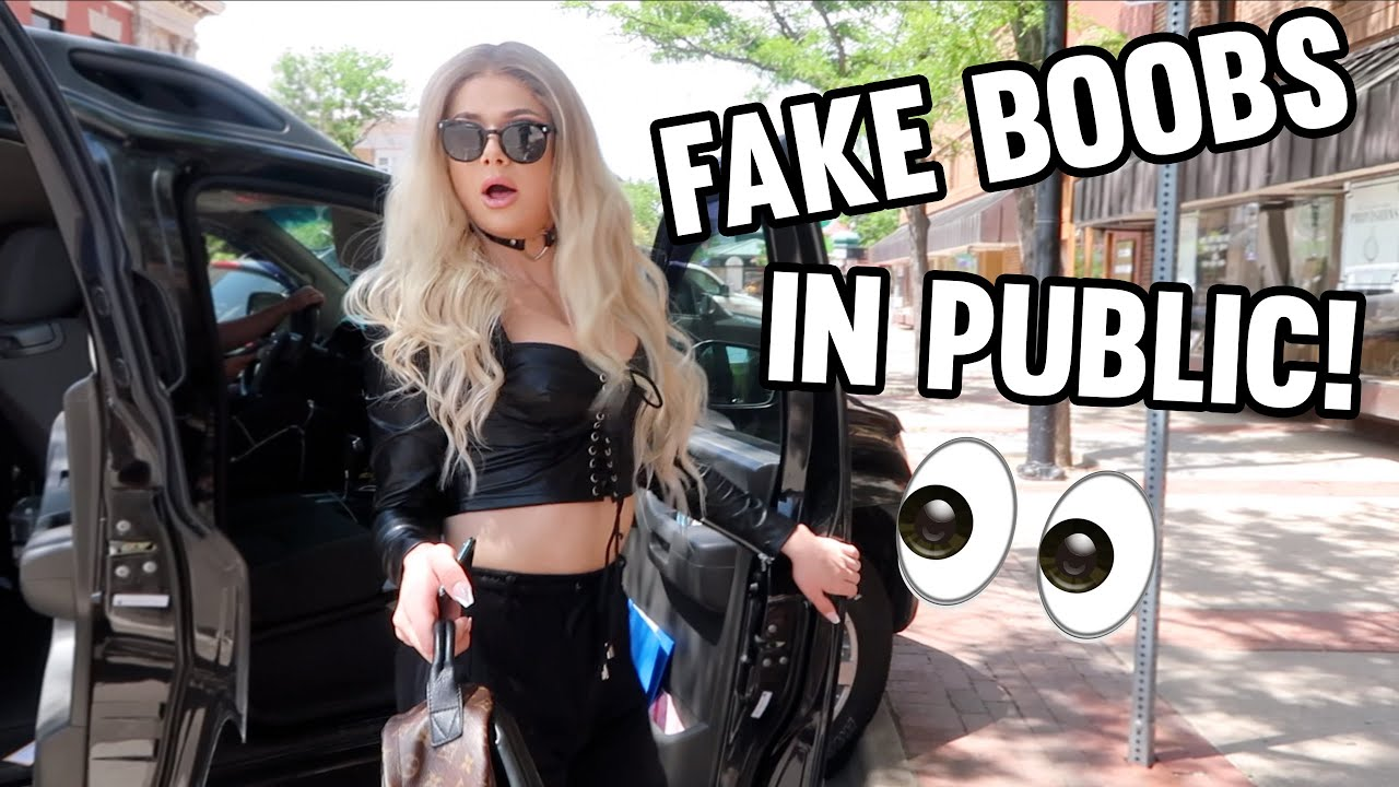 WEARING MY FAKE B**BS OUT IN PUBLIC!
