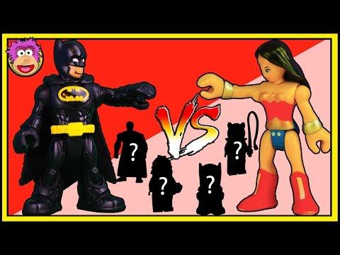 BLIND BAG BATTLE#6 Wonderwoman vs Batman ! Ooshies DC Series 2 Ooshies Marvel Series 2 Action Figure