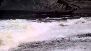 Rock Slide and Surf Wave on Mary Lake, Huntsville, Ontario