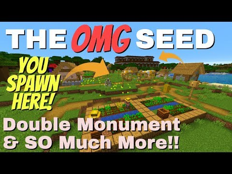 Best Minecraft Seeds: Spawn On Top Of A Mansion Double Monument Spawners So Many Villages (Avomance)