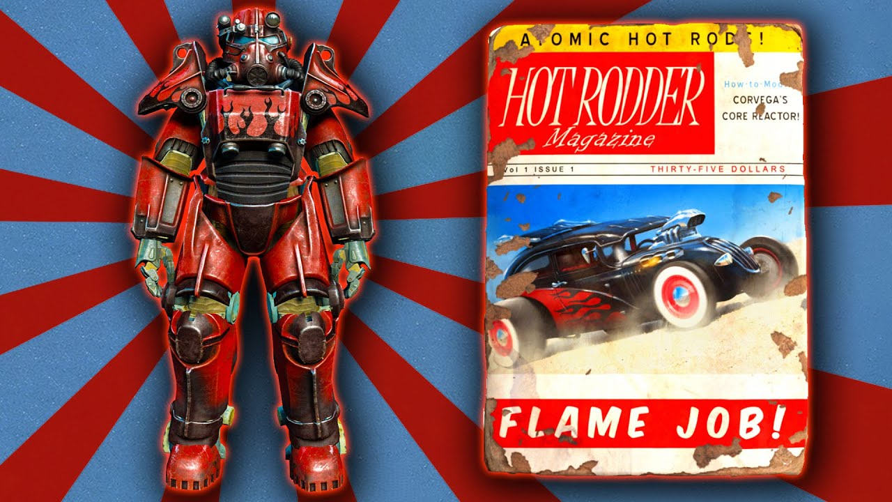 Fallout 4 - Hot Rod Flames Power Armor Paint Guide - YouTube