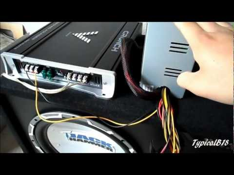 How do you hook up an amp in a car