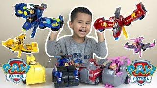 NEW 2018 Paw Patrol Flip and Fly toys, MARSHALL, CHASE,SKYE and RUBBLE