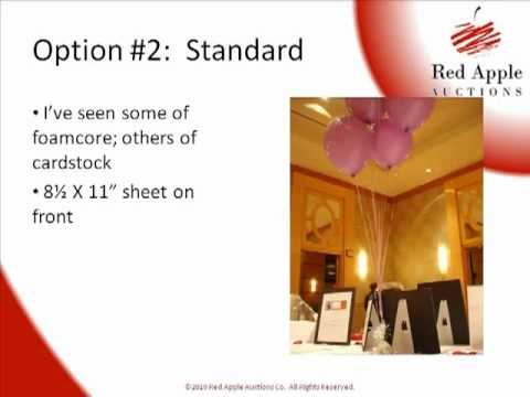Silent Auction Ideas Creating Vertical Displays Without
