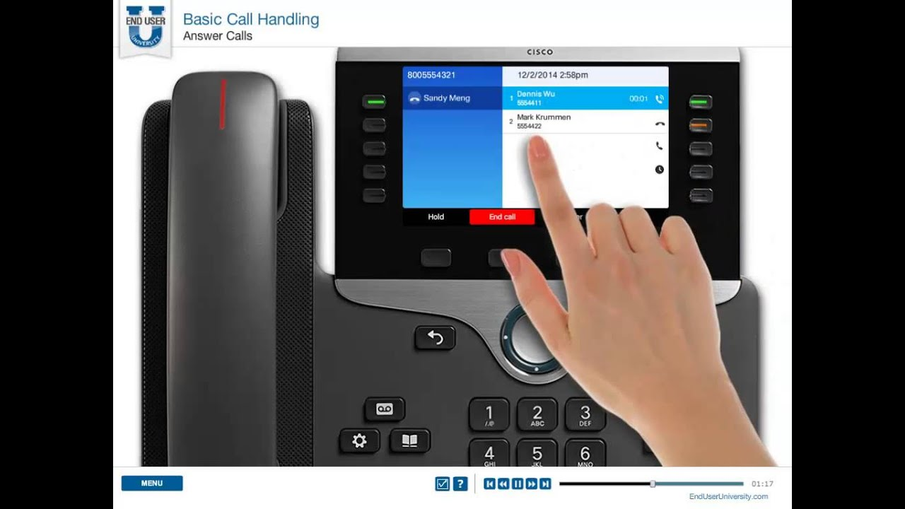 CISCO 8800 Series IP Phones - Answer Calls