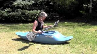 How to roll a kayak on dry land