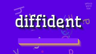 """How to say """"diffident""""! (High Quality Voices)"""