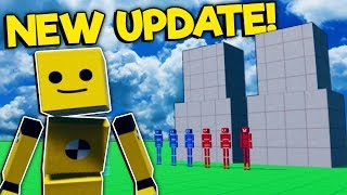 Playing with the Defender Ragdolls & Pistons in the New Update! - Fun With Ragdolls Gameplay