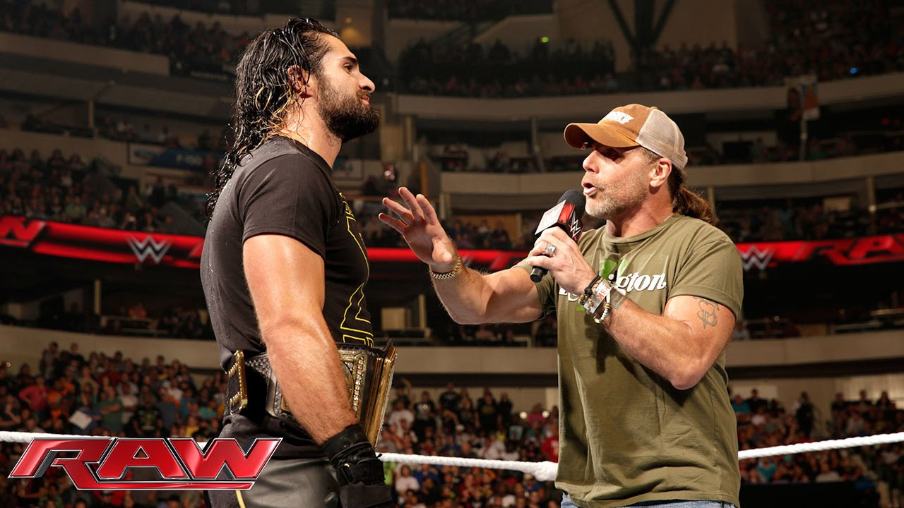 Seth rollins interrupts shawn michaels raw october 19 2015 youtube m4hsunfo Image collections