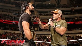 Seth Rollins interrupts Shawn Michaels: Raw, October 19, 2015